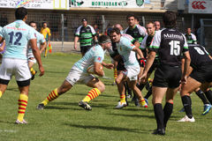 Top 14 rugby match USAP vs Montauban Royalty Free Stock Photos