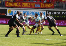 Top 14 rugby match USAP vs Montauban Royalty Free Stock Image