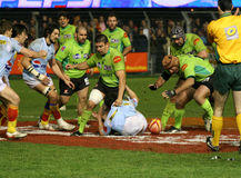 Top 14 rugby match USAP vs Montauban Royalty Free Stock Photography