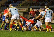 Top 14 rugby match USAP vs Montpellier Stock Photography