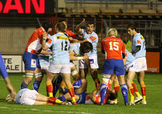 Top 14 rugby match USAP vs Montpellier Royalty Free Stock Photo