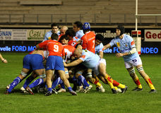 Top 14 rugby match USAP vs Montpellier Royalty Free Stock Images