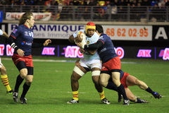 Top 14 rugby match USAP vs Racing 92 Royalty Free Stock Image