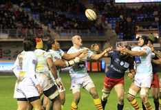 Top 14 rugby match USAP vs Racing 92 Stock Photos
