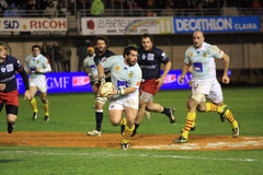 Top 14 rugby match USAP vs Racing 92 Royalty Free Stock Images