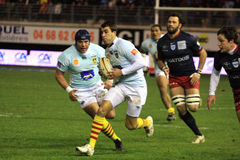 Top 14 rugby match USAP vs Racing 92 Royalty Free Stock Photos