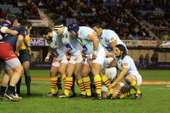 Top 14 rugby match USAP vs RACING METRO 92 Royalty Free Stock Photo