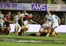 Top 14 rugby match USAP vs RC Toulon Royalty Free Stock Photo