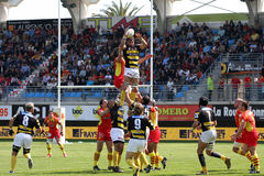 Top 14 rugby match USAP vs Stade Montois Royalty Free Stock Photography