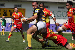 Top 14 rugby match USAP vs Stade Montois Royalty Free Stock Photos