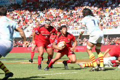 Top 14 rugby match USAP vs Stade Toulousain Royalty Free Stock Photo