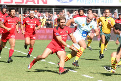 Top 14 rugby match USAP vs Stade Toulousain Stock Images