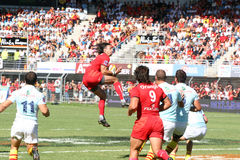 Top 14 rugby match USAP vs Stade Toulousain Royalty Free Stock Image