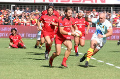 Top 14 rugby match USAP vs Stade Toulousain Royalty Free Stock Images