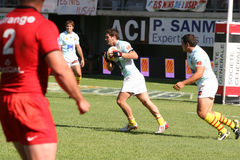 Top 14 rugby match USAP vs Stade Toulousain Stock Image