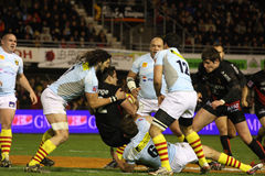 Top 14 rugby match USAP vs Toulouse Stock Photos