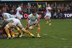 *Top 14 rugbygelijke USAP versus Bourgoin Royalty-vrije Stock Afbeeldingen