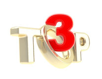 Top-3 emblem symbol isolated Royalty Free Stock Photo