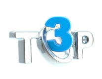 Top-3 emblem symbol isolated Stock Photography