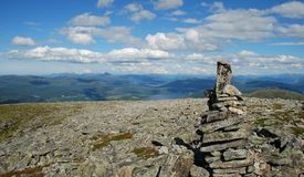 On the TOP. Mountain - Skola hiking in Norway Royalty Free Stock Image