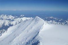 Top aan Horizon in Wildernis Denali stock fotografie