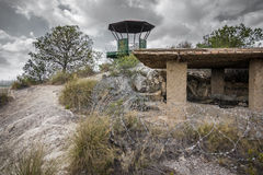 Top of abandoned military zone. Wide angle view of vigilance point of abandoned military zone Royalty Free Stock Photos