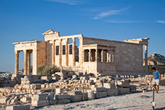 The top of the Acropolis of Athens on July 1, 2013 in Greece. Stock Photography