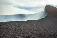 Top of the active volcano in Guatemala Royalty Free Stock Photos