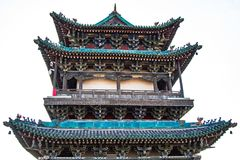 Admin Tower. Top of the administration tower of the Pingyao City Wall Royalty Free Stock Images