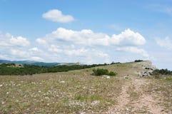 On top of AI-Petri plateau, Foros kant, Crimea Royalty Free Stock Photo
