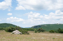 On top of Ai-Petry plateau, Foros kant, Crimea Royalty Free Stock Image