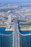 Top of Akashi Kaikyo Bridge Royalty Free Stock Photos