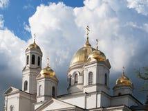 Top of  Alexander Nevsky Cathedral closeup, Simferopol, Crimea Royalty Free Stock Photography