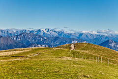 At the top of the Alps. Nice view at the top of the Italian Alps Stock Image