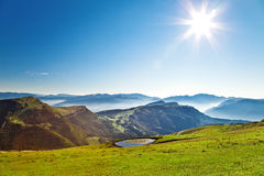 At the top of the Alps. Nice view at the top of the Italian Alps Royalty Free Stock Image