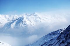 Top of alps. In sky Royalty Free Stock Photo