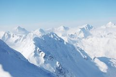 Top of alps. In sky Royalty Free Stock Images