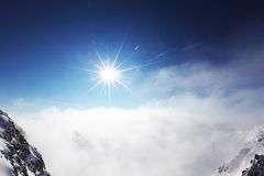 Top of alps. In sky Stock Photography