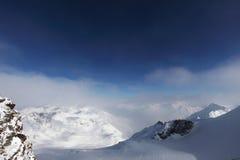 Top of alps. In sky Stock Photos