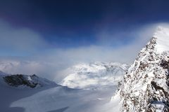 Top of alps. In sky Royalty Free Stock Image