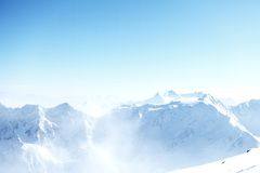Top of alps. In sky Royalty Free Stock Photos