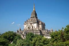 Top of an ancient Buddhist temple Gawdaw Palin. Bagan, Myanmar Stock Photography