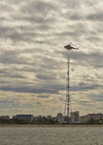 On top of the antenna Royalty Free Stock Photo