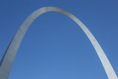 The top of the Arch. The top of the Gateway Arch in St. Louis Missouri Stock Photo