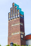 Top of the Art Nouveau Hochzeitsturm, wedding tower, in Darmstadt Royalty Free Stock Photo