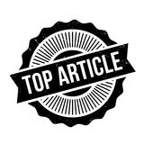 Top Article rubber stamp Stock Image