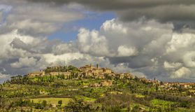 HISTORIC TOWN. MONTEPULCIANO IDYLLIC TUSCANY LANDSCAPE. TOP ATTRACTION IN ITALY. FAMOUS TRIP DESTINATION royalty free stock image