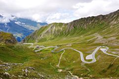 Top of Austria. The beautifull alpine road, Grossglochner, is one of the best roads in the Alps Stock Photos