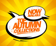 Top autumn collections now available. Royalty Free Stock Photos