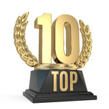 Top 10 award cup symbol  on white background Royalty Free Stock Photos